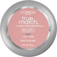 L'Oreal Paris True Match Super-Blendable Blush, Soft Powder Texture, Tender Rose, 0.21 oz.