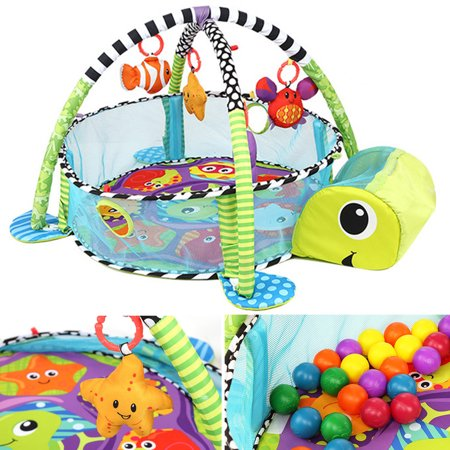 Meigar Baby Activity Gym Game Center Play Activity Crawling Mat Toys Hanging Infant Toddler Toy Gift Development Station Colorful Balls Toys (Halloween Activities For Toddlers In Chicago)