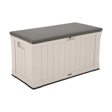 Lifetime 116 Gallon Heavy-Duty Outdoor Storage Deck Box, Desert Sand ()