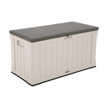 Lifetime 116 Gallon Heavy-Duty Outdoor Storage Deck Box, Desert (Sands Stores)
