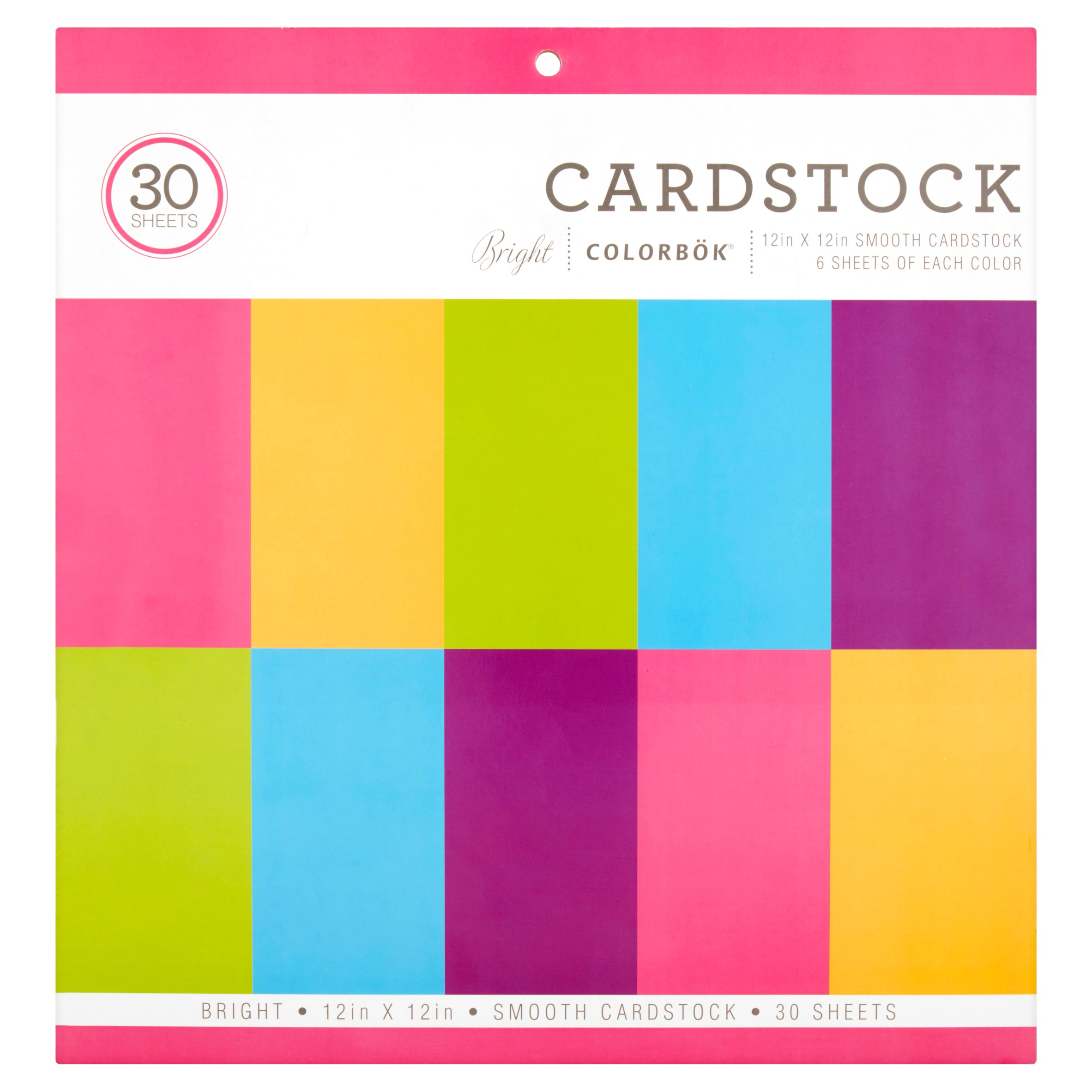 Colorbok Smooth Cardstock, 30 Count
