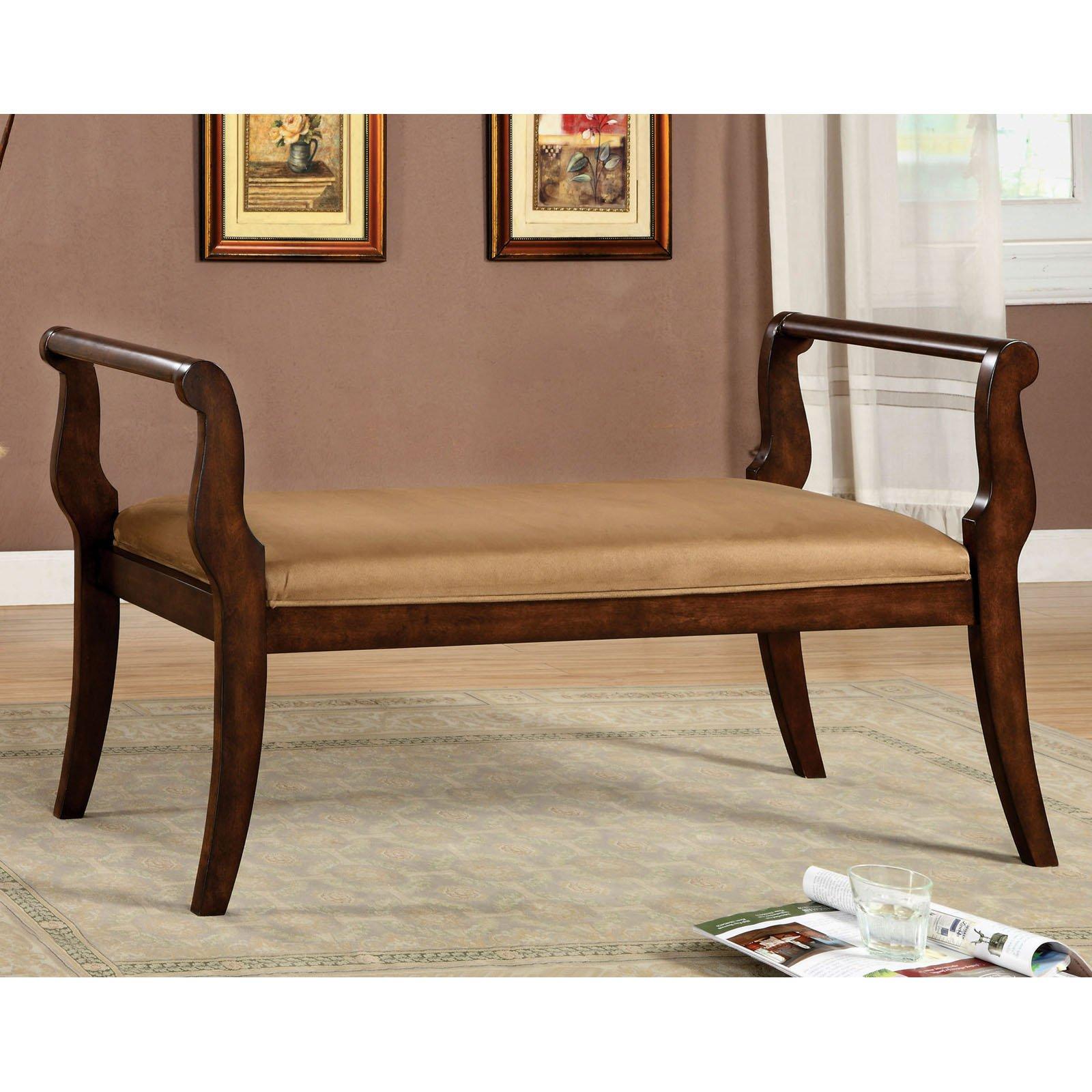 Furniture of America Pierre Velvet Upholstered Bench Seating