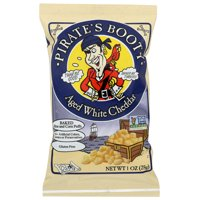 Pirate Brands Booty Puffs, Aged White Cheddar, 1 Oz, Pack Of 24