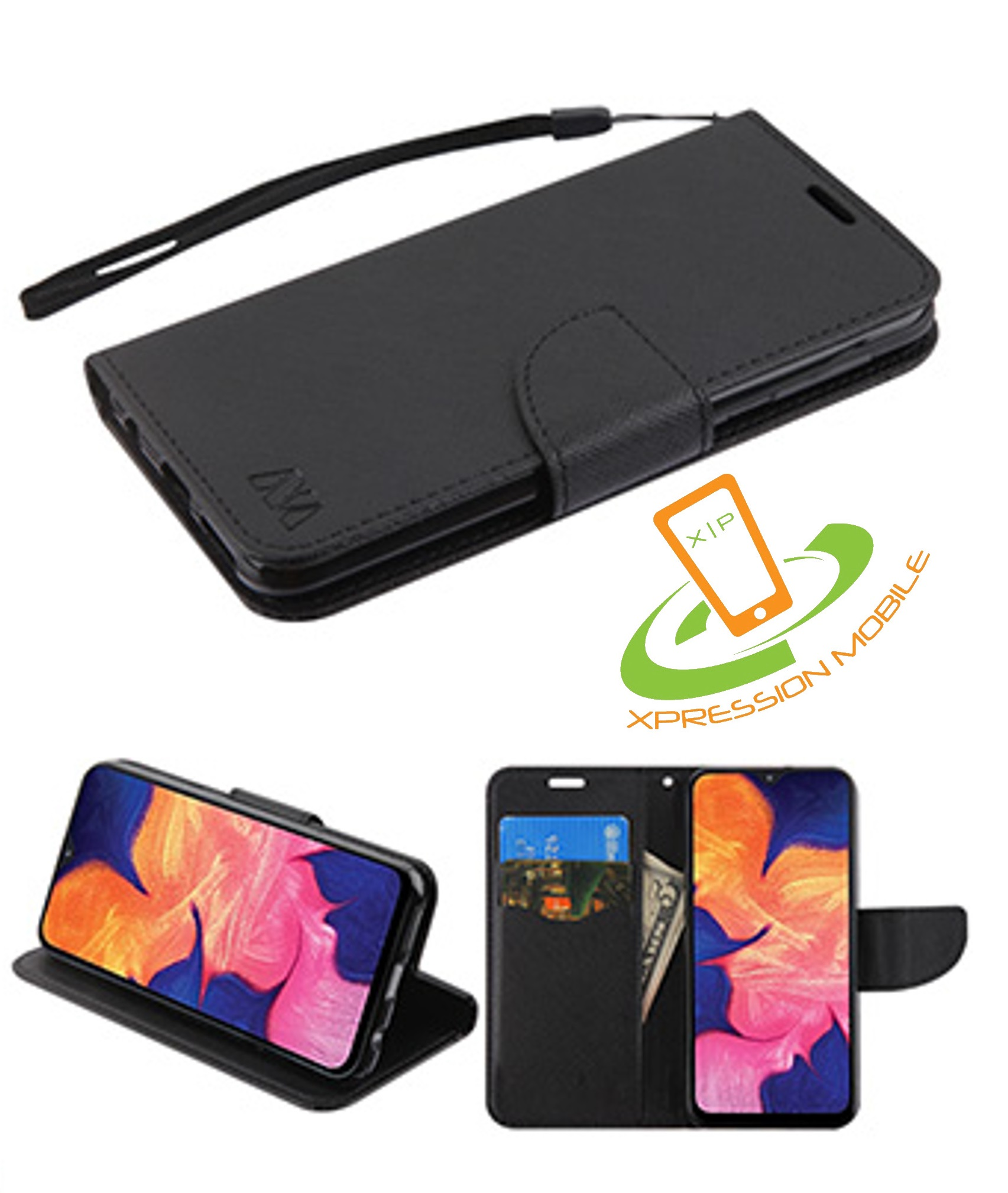 Samsung Galaxy A10 Flip Case Cover for Samsung Galaxy A10 Leather Card Holders Wallet case Extra-Protective Business Kickstand with Free Waterproof-Bag Business