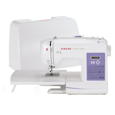 Singer 5560 Fashion Mate Sewing Machine with Dust Cover, Foot Pedal & Extension Table, 4