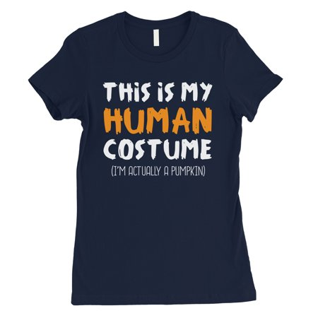 This Is My Human Costume Womens Navy - Navy Woman Costume