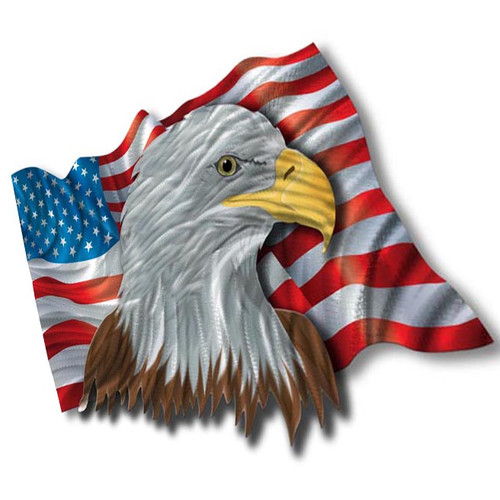 All My Walls Patriotic Eagle  Wall D cor