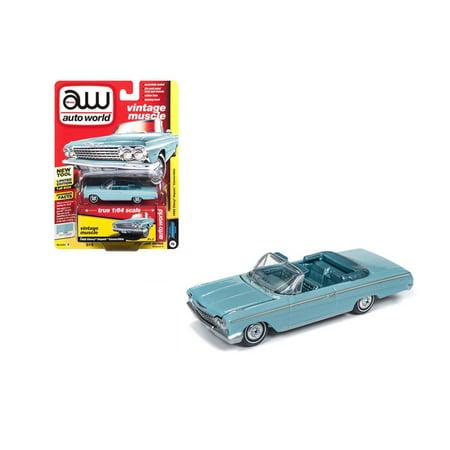 1962 Bumper - AUTO WORLD 1:64 PREMIUM 2018 RELEASE 4 VERSION B - 1962 CHEVROLET IMPALA CONVERTIBLE (TWILIGHT TURQUOISE) AWSP014-24B
