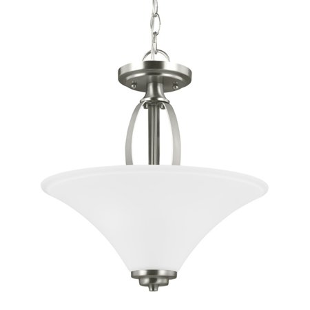 Sea Gull Lighting Metcalf 7713202 2-Light Semi-Flush Convertible Pendant ()
