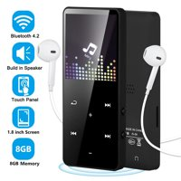 Wireless MP3 Player - 16/8GB MP3 MP4 Player - Bluetooth4.2 Portable HiFi Lossless Sound MP3 Music Player with FM Radio, Voice Recorder, E-Book, 1.8'' Screen - Support up to 128GB (Earphone Included)