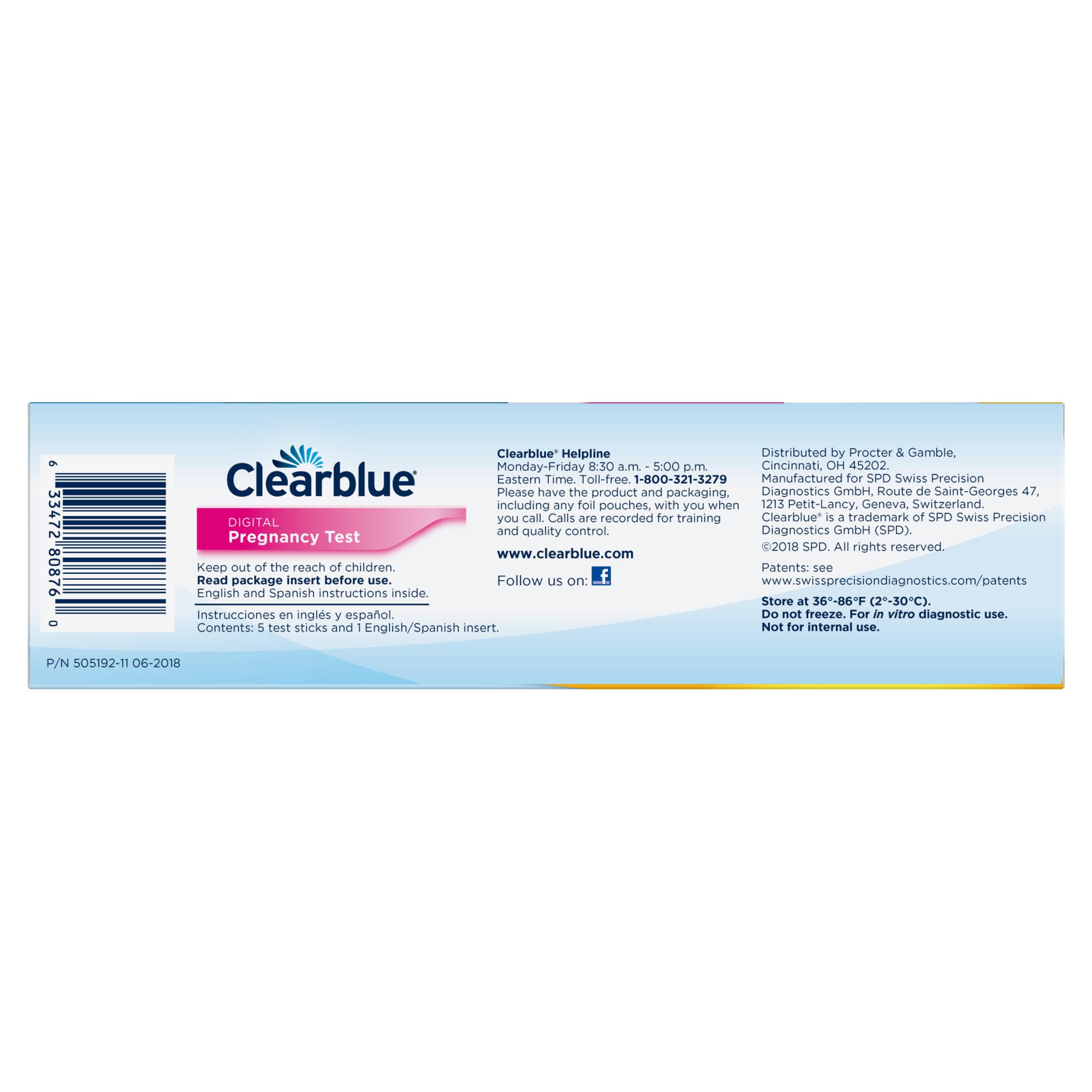 clearblue digital no funciona