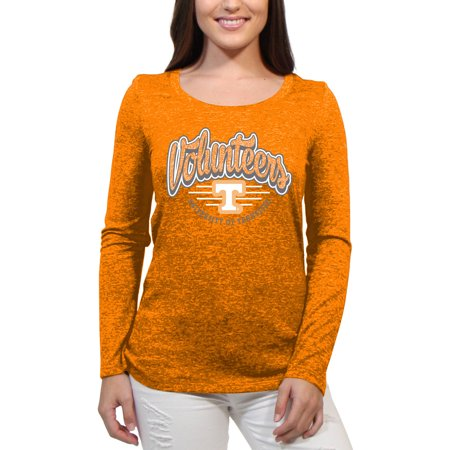 Tennessee Volunteers Funky Script Women'S/Juniors Team Long Sleeve Scoop Neck Shirt Tennessee Volunteers Womens Short