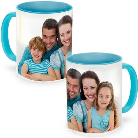 (Light Blue Photo Mug 15 oz)