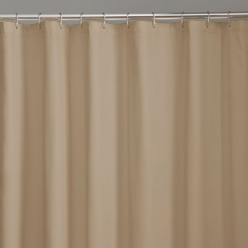 Click here to buy Mainstays Fabric Shower Curtain Liner by Maytex Mills.