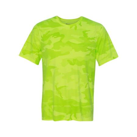ea8cb7fcb91 Champion - CW22 Double Dry Interlock T-Shirt - Safety Green Camo ...