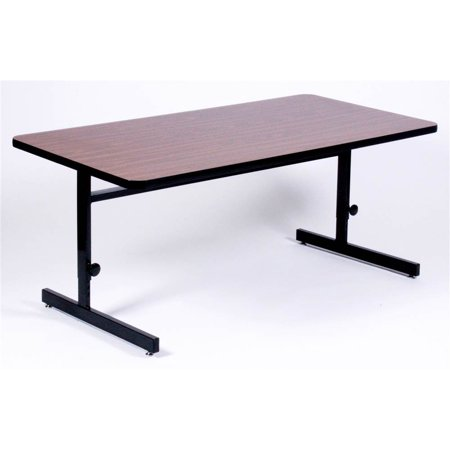 high pressure adjustable height computer table 24 in x 72 inmahogany - Adjustable Height Computer Desk