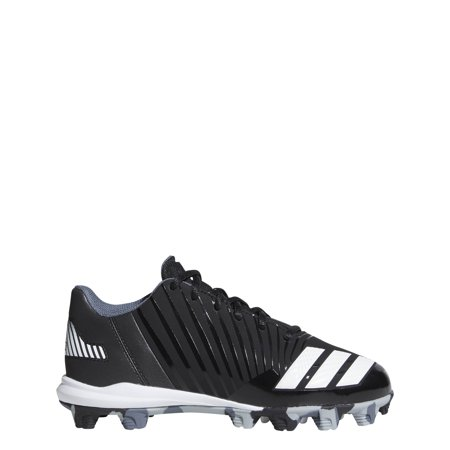 5b9469598 New Adidas Kids 10K Icon MD Molded Baseball Cleat Black White B39227