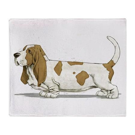 CafePress - Basset Hound - Soft Fleece Throw Blanket, 50