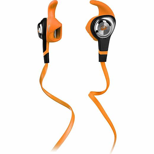 Monster iSport Strive In-Ear Wired Headphones with Apple ControlTalk and Mic, Orange