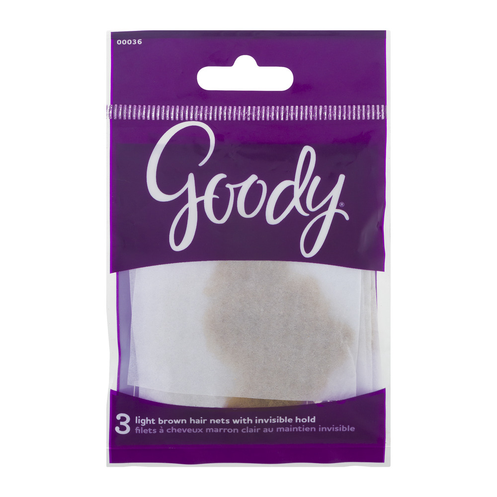 Goody Light Brown Hair Nets with Invisible Hold, 3.0 CT