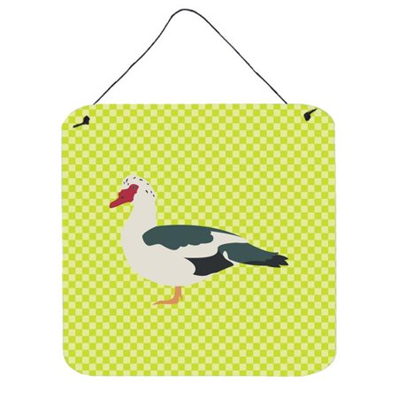 Muscovy Duck Pink Check Wall or Door Hanging Prints, 6 x 6 in. - image 1 of 1