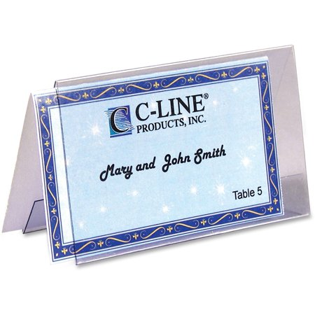 C-Line, CLI87527, Name Tent Templates, 160 / Box, White