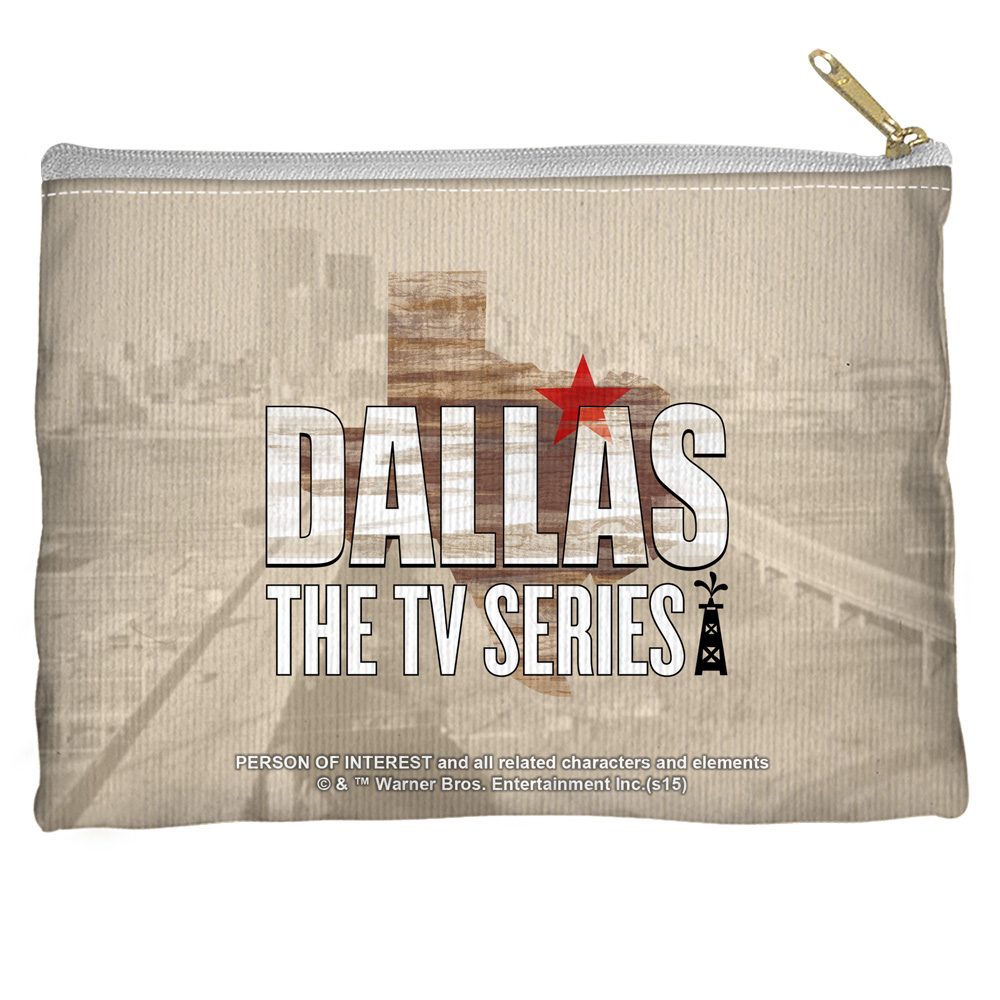 Dallas Logo Accessory Pouch White 8.5X6