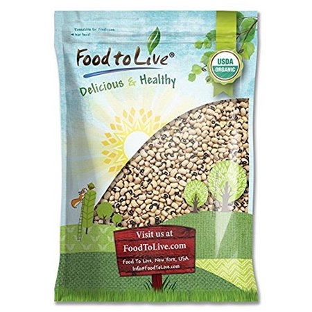 Organic Black-Eyed Peas, 10 Pounds - Raw Dried Cow Peas, Non-GMO, Bulk Beans, Kosher, Sproutable - by Food to