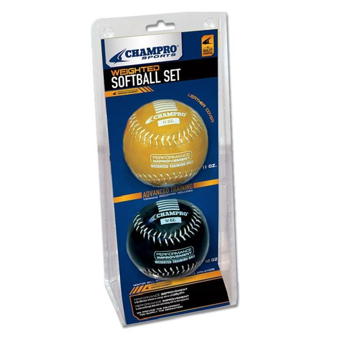 Champro Advanced Weighted Training Softball (Yellow/Black, 12-Inch) CSB7AS