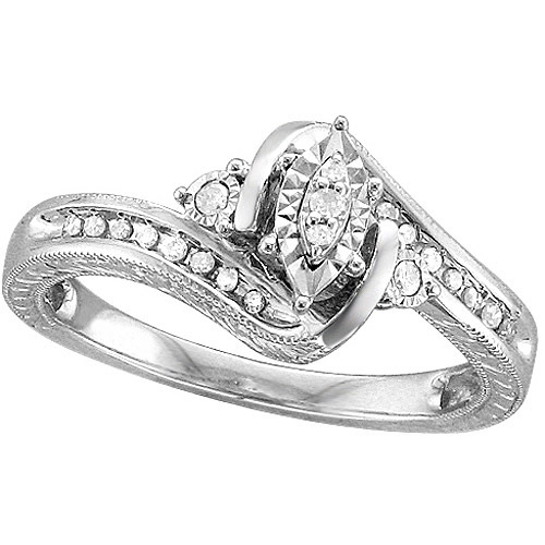 1/6 Carat T.W. Diamond Sterling Silver Promise Ring