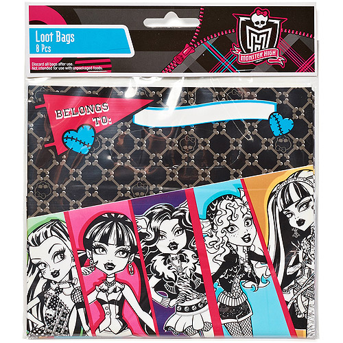 Monster High Treat Bags, Pack of 8, Party Supplies