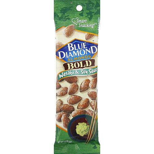 Blue Diamond Bold Wasabi & Soy Sauce, 1.5 oz, (Pack of 12)