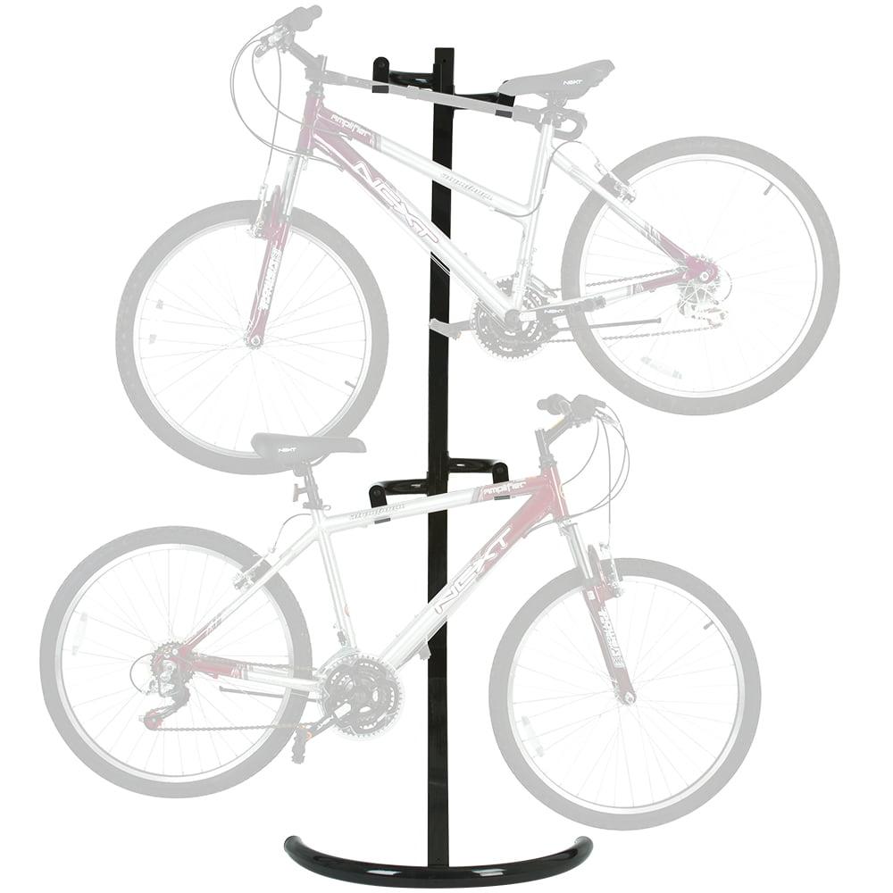 2-Bike Garage Wall Indoor Bicycle Storage Rack Stand