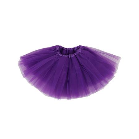Tutus for Girls Children's 4 Layered Tulle Princess Ballerina Dance Skirt, Purple