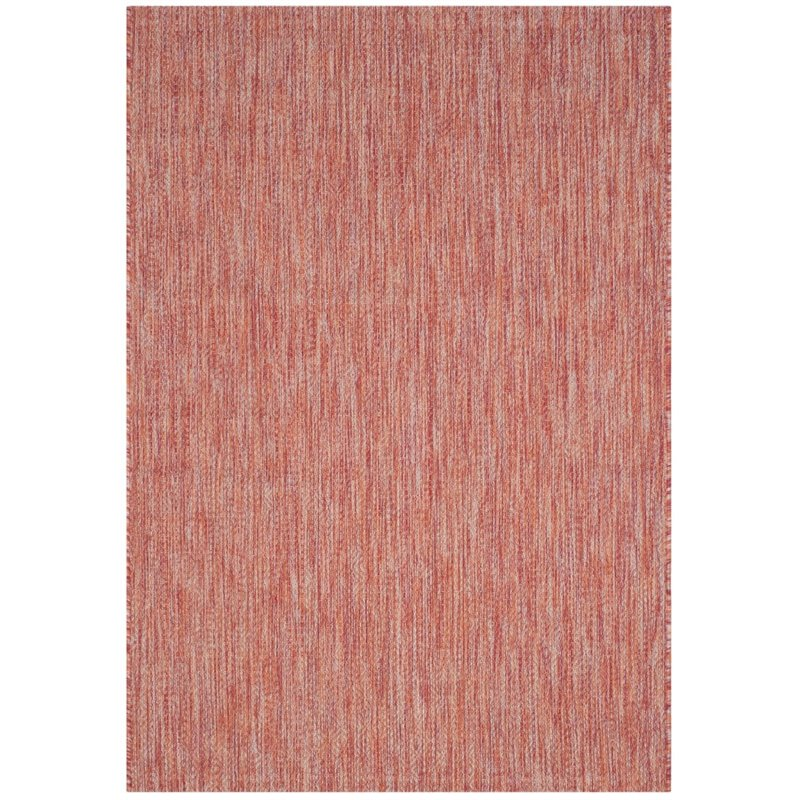 Safavieh Courtyard 8' X 11' Power Loomed Rug in Red and Red - image 6 de 6