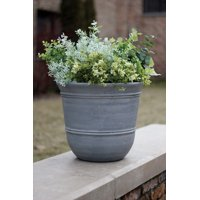 Suncast 1624GP4 Faux Concrete Planter, Resin, Grey