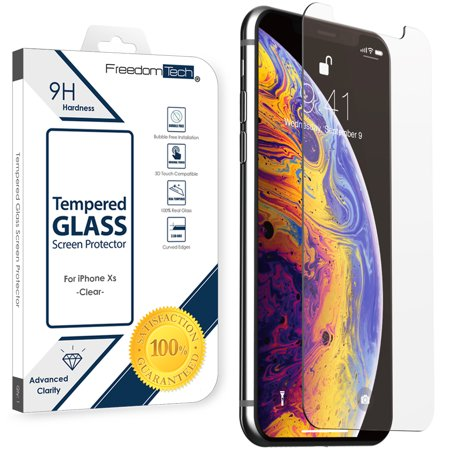 iPhone XS / X Tempered Glass Screen Protector, Afflux Tempered Glass Screen Protector for Apple iPhone XS, X, 10 5.8