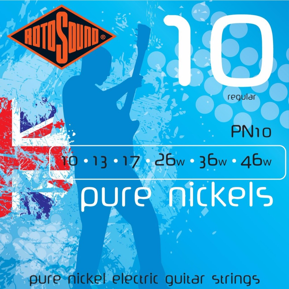 Rotosound PN10 Pure Nickel Electric Guitar Strings by