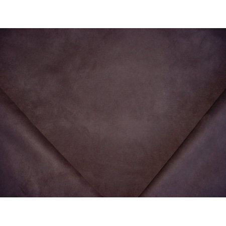 39RT1 - Sable Brown Faux Suede Leatherette Designer Upholstery Drapery Fabric - By the Yard