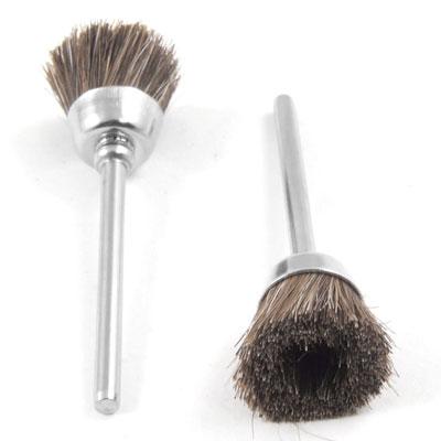 "Unique Bargains 3mm 3/25"" Mandrel Brown Soft Nylon Cup Brush Polishing Tool 5pcs"