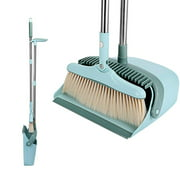 Dustpan and Broom Set Foldable Home Windproof Plastic Broom Sweeping Broom