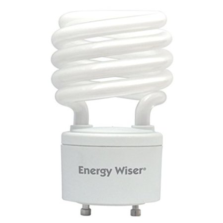 509709 CF23WW/GU24/E 23W Energy Wiser Compact Fluorescent T3 Coil, Twist and Lock GU24 Base, 100W Equivalent, Warm White, Included in the box: 1- 23 watt Compact.., By Bulbrite