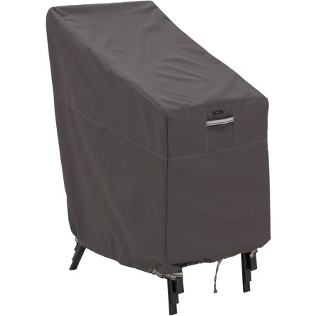 Classic Accessories Ravenna Water-Resistant 25.5 Inch Stackable Patio Chair Cover Ravenna 28 Light
