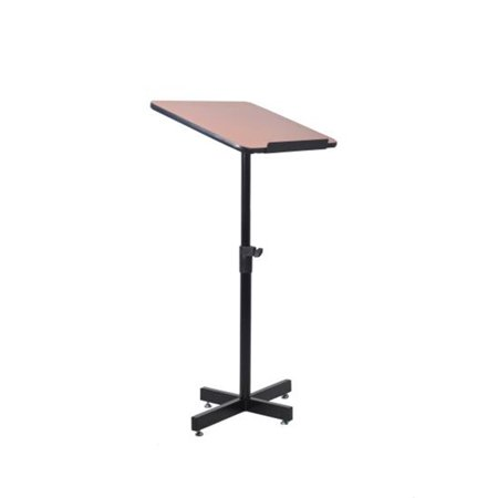 Adjustable Height Metal Lectern (Compact & Portable Lectern Podium | Speech & Presentation Stand | Adjustable Floor Standing Style )