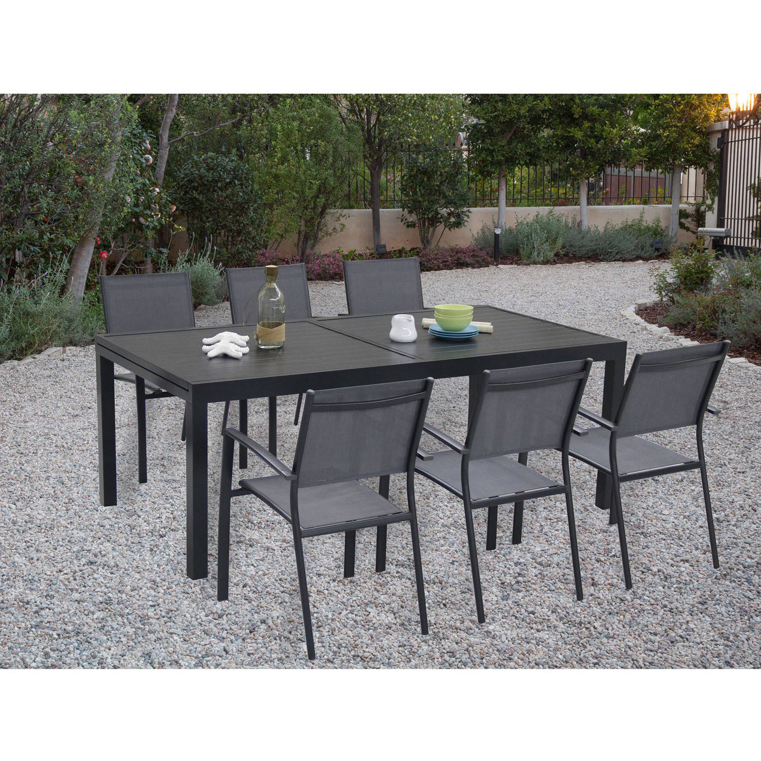 Cambridge Outdoor Nova 7-Piece Dining Room Set, Grey by Cambridge Outdoor