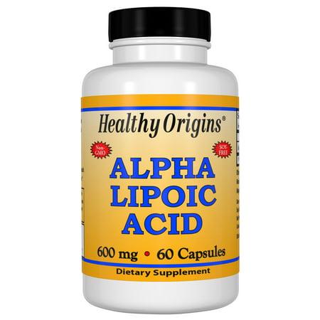 Healthy Origins Alpha Lipoic Acid 600 mg, 60 Capsules Alpha Lipoic Acid Cosmetics