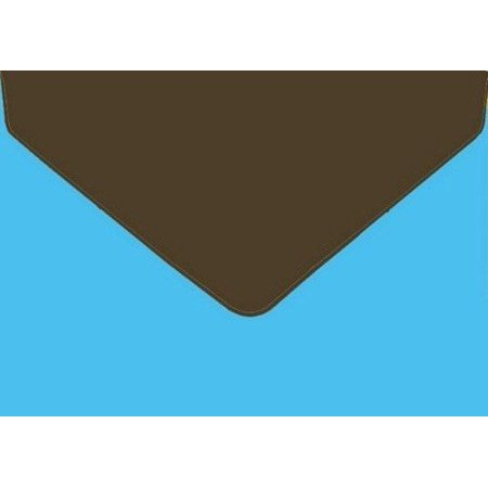 Geographics Greeting Cards - Brown-Teal Dual Tone Greeting Card Envelopes, A9, 15/PK, A9, (4.12x9.5) By Geographics