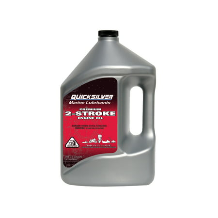 (9 Pack) Quicksilver 2-Cycle Premium Outboard Oil TCW3 - 1 Gallon