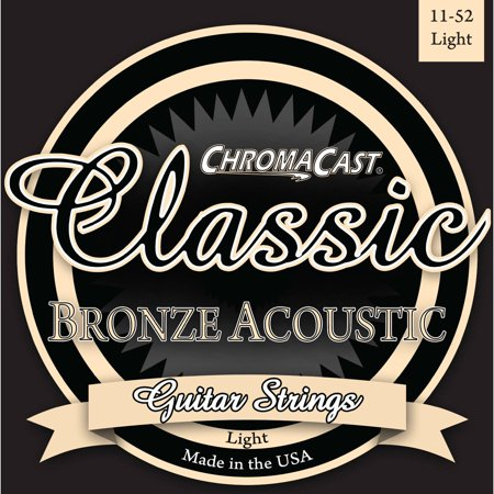 Folk Acoustic Guitar Strings - ChromaCast Classic Bronze Acoustic Guitar Strings