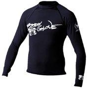 Basic Mens Long Sleeve Lycra Rash Guard Size S Black 1211SXX
